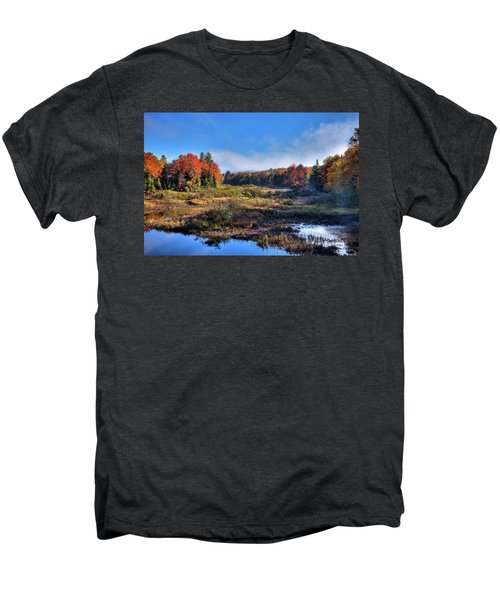 Men's Premium T-Shirt featuring the photograph Patches Of Fog At The Green Bridge by David Patterson