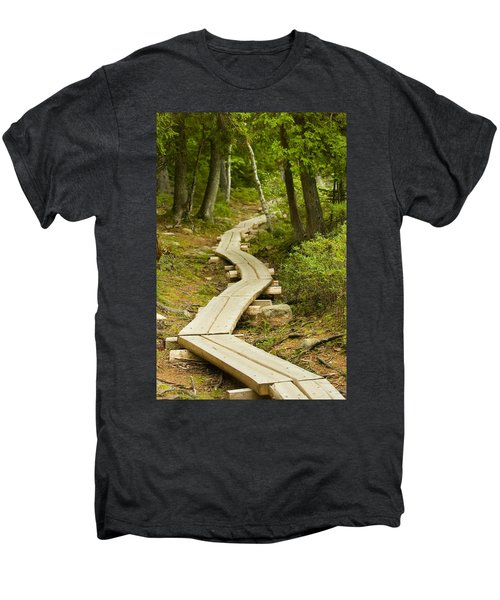Path Into Unknown Men's Premium T-Shirt by Sebastian Musial