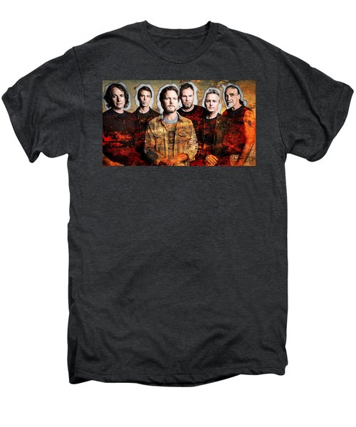 Men's Premium T-Shirt featuring the mixed media Pearl Jam by Marvin Blaine