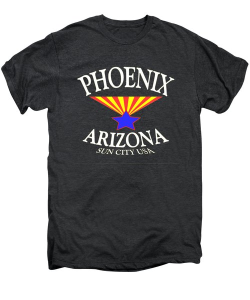 Phoenix Arizona Tshirt Design Men's Premium T-Shirt by Art America Gallery Peter Potter