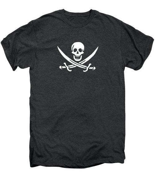 Pirate Flag Jolly Roger Of Calico Jack Rackham Tee Men's Premium T-Shirt by Edward Fielding