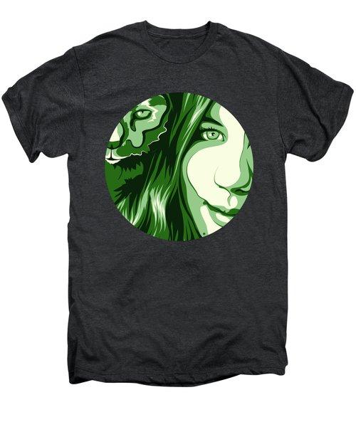 Portrait Men's Premium T-Shirt by Carolina Matthes