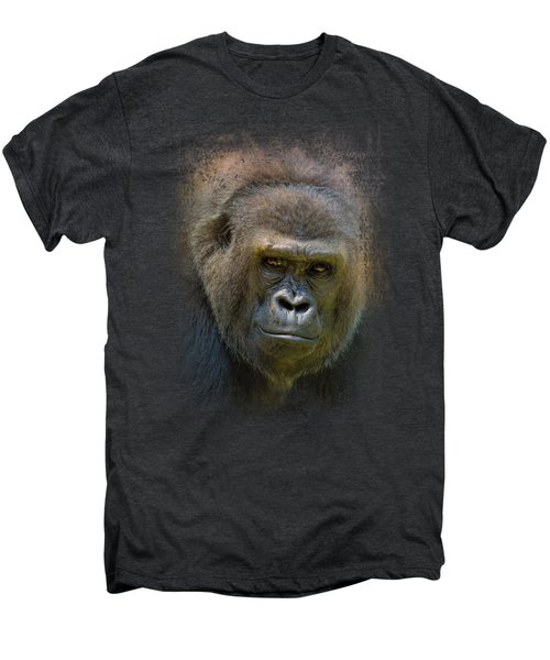 Portrait Of A Gorilla Men's Premium T-Shirt by Jai Johnson