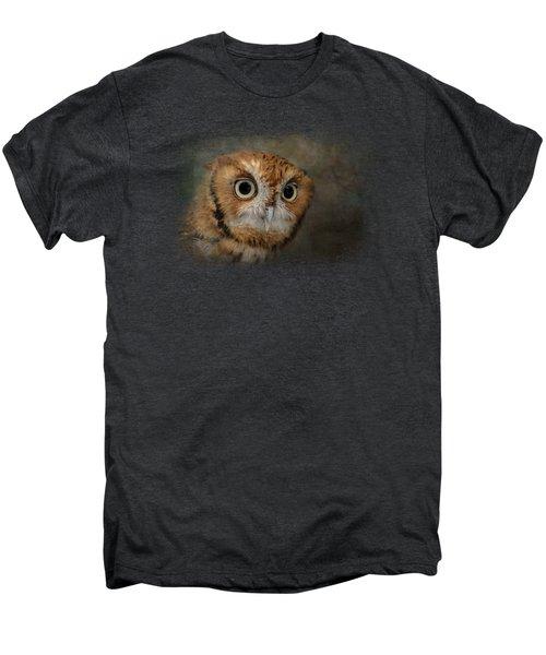 Portrait Of An Eastern Screech Owl Men's Premium T-Shirt