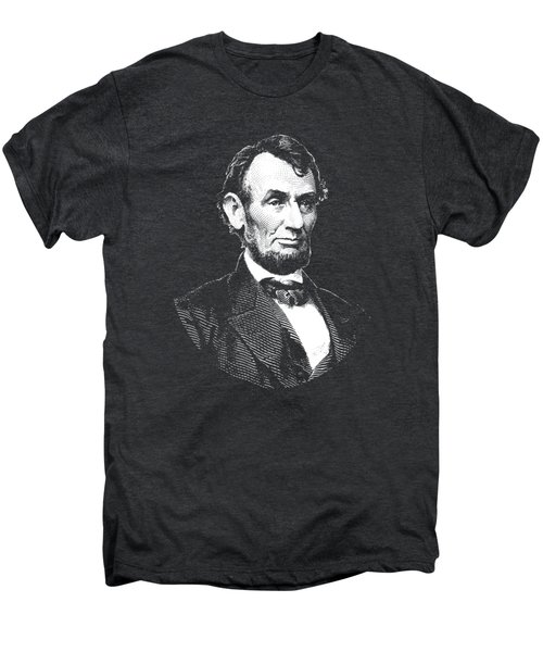 President Abraham Lincoln Graphic - Black And White Men's Premium T-Shirt by War Is Hell Store