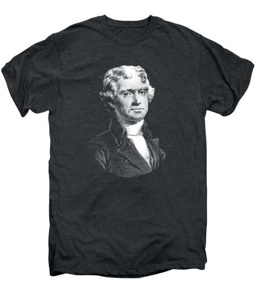 President Thomas Jefferson - Black And White Men's Premium T-Shirt by War Is Hell Store