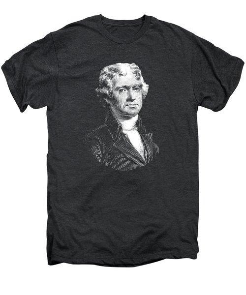 President Thomas Jefferson - Black And White Men's Premium T-Shirt