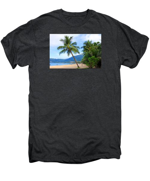 Phuket Patong Beach Men's Premium T-Shirt by Mark Ashkenazi