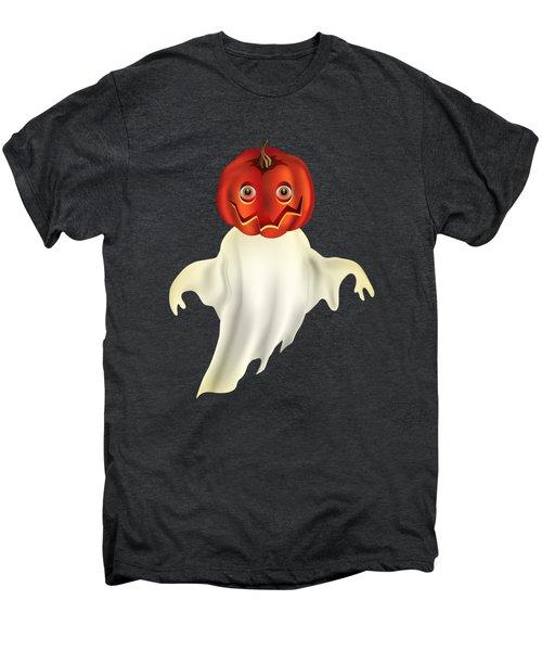 Pumpkin Headed Ghost Graphic Men's Premium T-Shirt