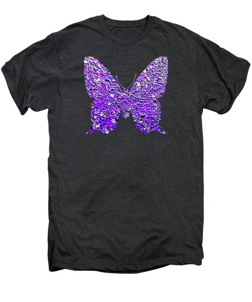 Purple Butterfly  Men's Premium T-Shirt