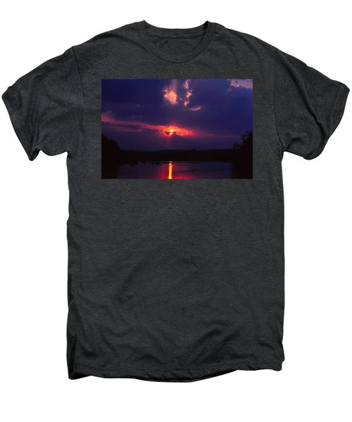 Purple Sunset Men's Premium T-Shirt