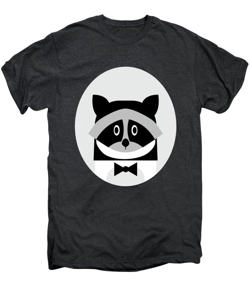 Racoon Bw Men's Premium T-Shirt