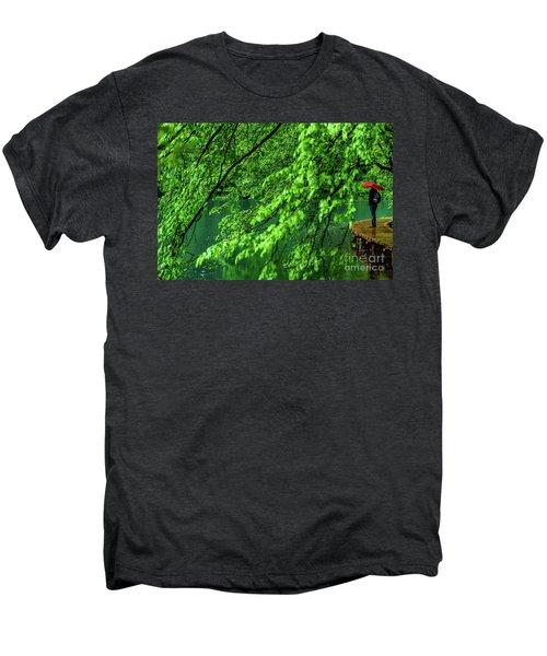 Raining Serenity - Plitvice Lakes National Park, Croatia Men's Premium T-Shirt