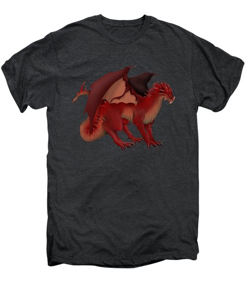 Red Dragon Men's Premium T-Shirt by Gaynore Craps