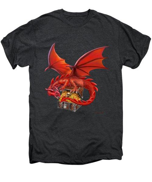 Red Dragon's Treasure Chest Men's Premium T-Shirt by Glenn Holbrook