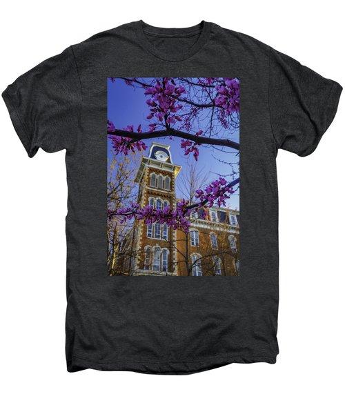 Redbud At Old Main Men's Premium T-Shirt by Damon Shaw