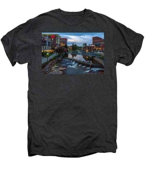 Reedy River View At Sunset Men's Premium T-Shirt