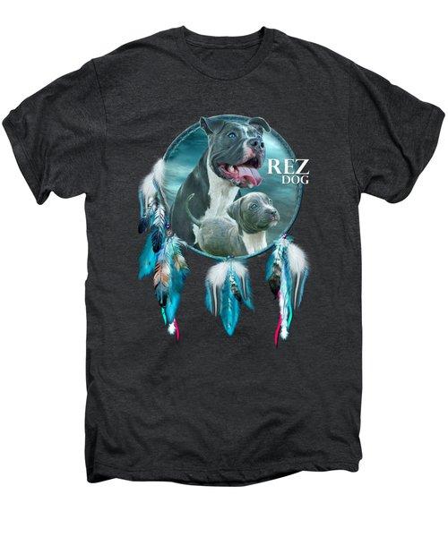 Rez Dog Cover Art Men's Premium T-Shirt by Carol Cavalaris