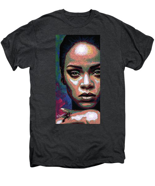 Rihanna Men's Premium T-Shirt by Maria Arango