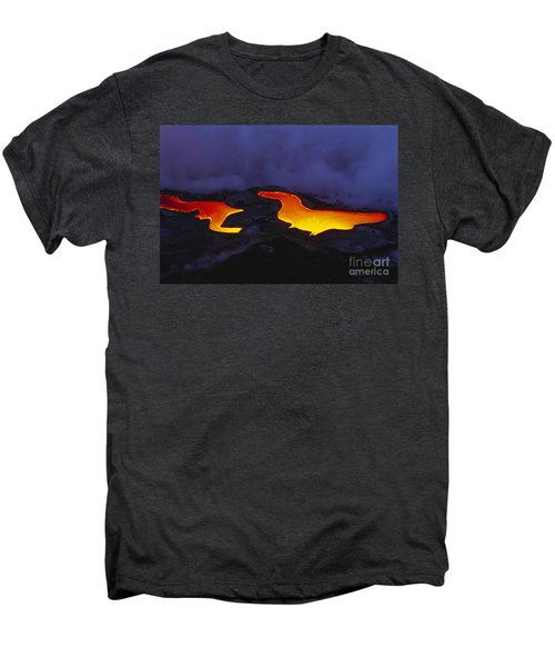 River Of Lava Men's Premium T-Shirt by Peter French - Printscapes