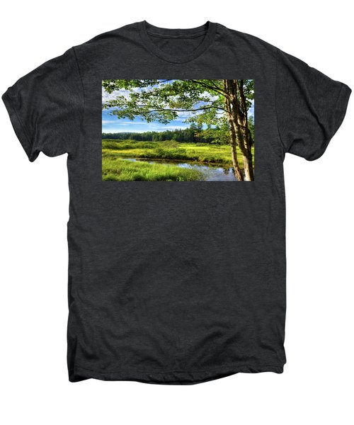 Men's Premium T-Shirt featuring the photograph River Under The Maple Tree by David Patterson