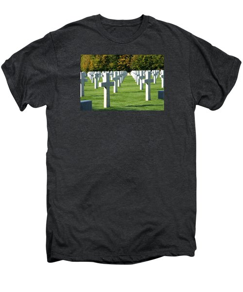 Men's Premium T-Shirt featuring the photograph Saint Mihiel American Cemetery by Travel Pics