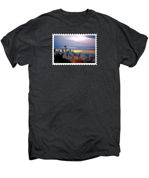 Seattle At Sunset Men's Premium T-Shirt