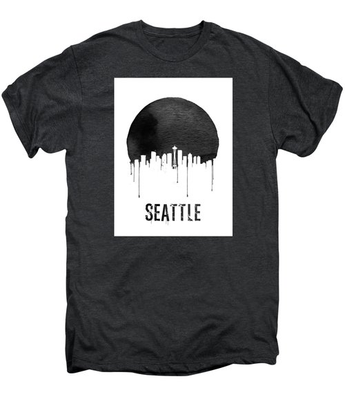 Seattle Skyline White Men's Premium T-Shirt by Naxart Studio