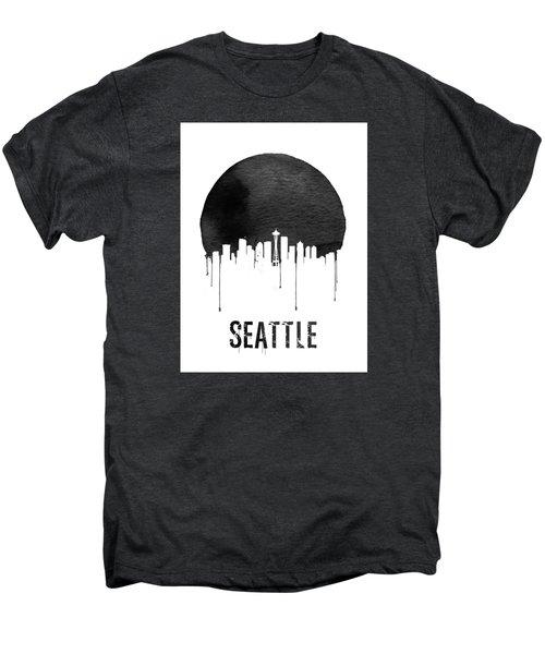 Seattle Skyline White Men's Premium T-Shirt