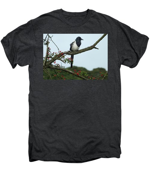 September Magpie Men's Premium T-Shirt by Philip Openshaw