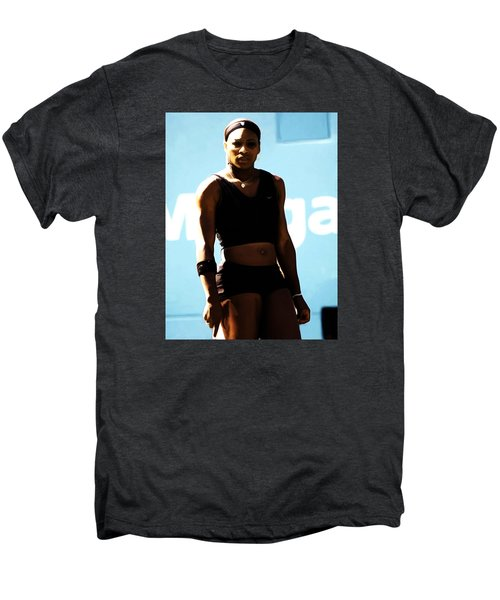 Serena Williams Match Point IIi Men's Premium T-Shirt by Brian Reaves