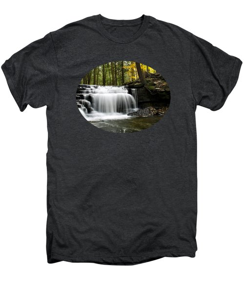 Serenity Waterfalls Landscape Men's Premium T-Shirt by Christina Rollo