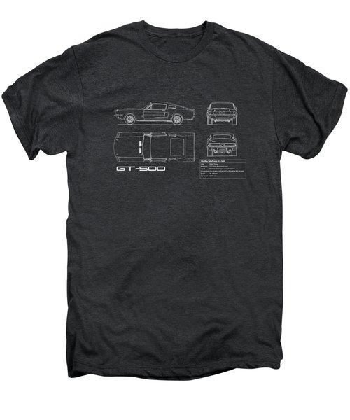 Shelby Mustang Gt500 Blueprint Men's Premium T-Shirt