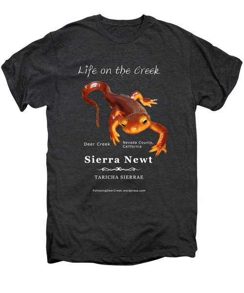 Sierra Newt - Color Newt - White Text Men's Premium T-Shirt