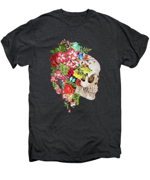 Skull Floral Men's Premium T-Shirt