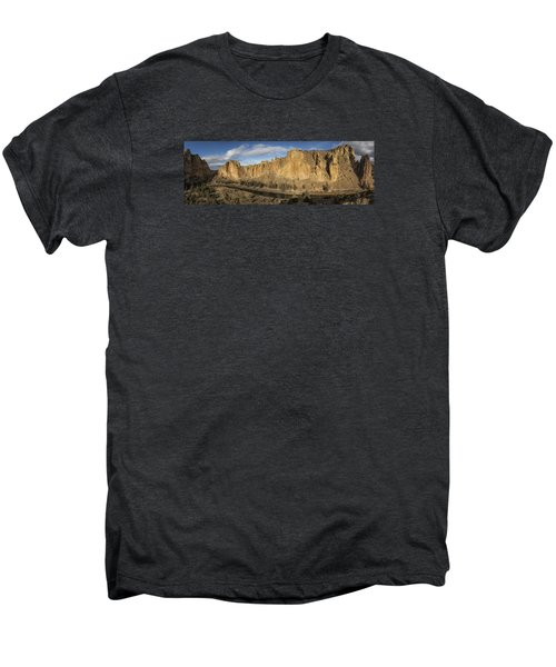 Smith Rock And Crooked River Panorama Men's Premium T-Shirt