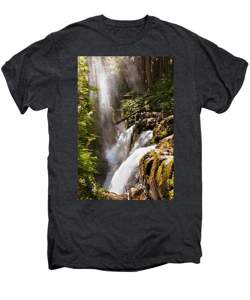 Men's Premium T-Shirt featuring the photograph Sol Duc Falls by Adam Romanowicz