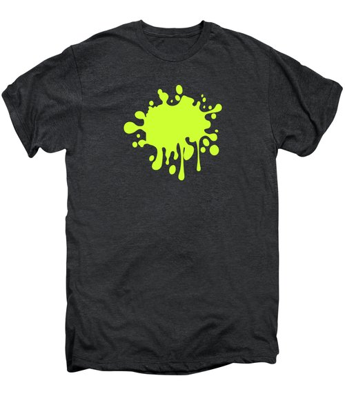 Solid Electric Lime Color Men's Premium T-Shirt by Garaga Designs