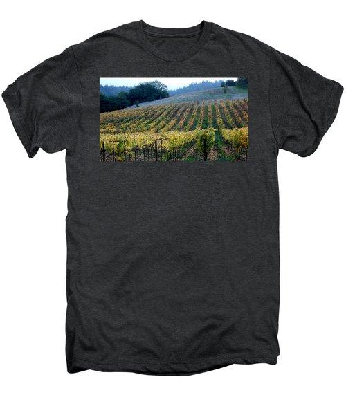 Sonoma County Vineyards Near Healdsburg Men's Premium T-Shirt