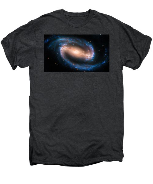 Space Image Barred Spiral Galaxy Ngc 1300 Men's Premium T-Shirt by Matthias Hauser