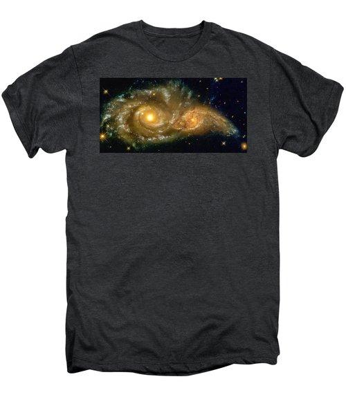 Space Image Spiral Galaxy Encounter Men's Premium T-Shirt by Matthias Hauser