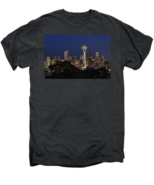 Men's Premium T-Shirt featuring the photograph Space Needle by David Chandler
