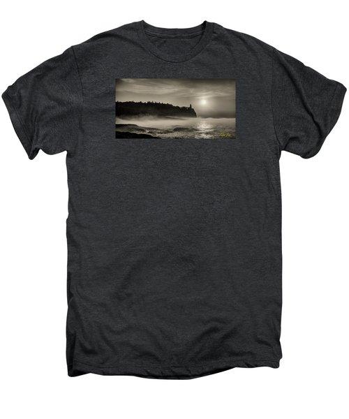 Split Rock Lighthouse Emerging Fog Men's Premium T-Shirt