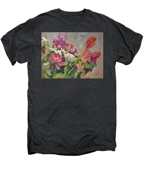 Spring Flowers Bouquet Men's Premium T-Shirt