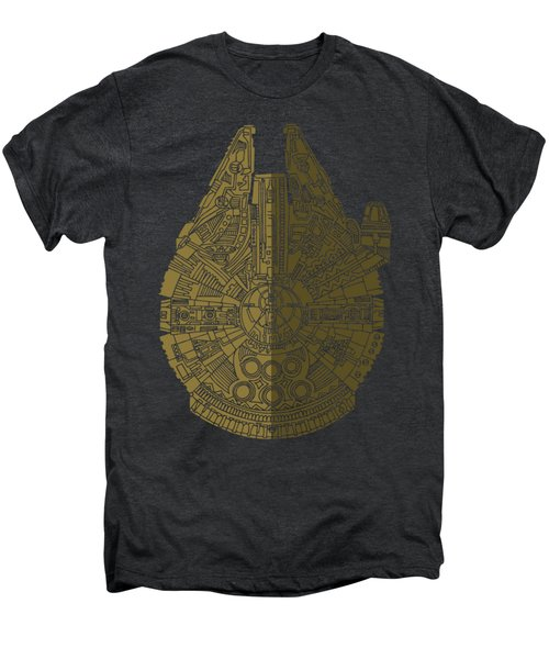 Star Wars Art - Millennium Falcon - Black, Brown Men's Premium T-Shirt