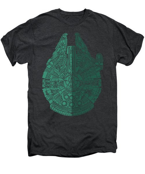 Star Wars Art - Millennium Falcon - Blue Green Men's Premium T-Shirt