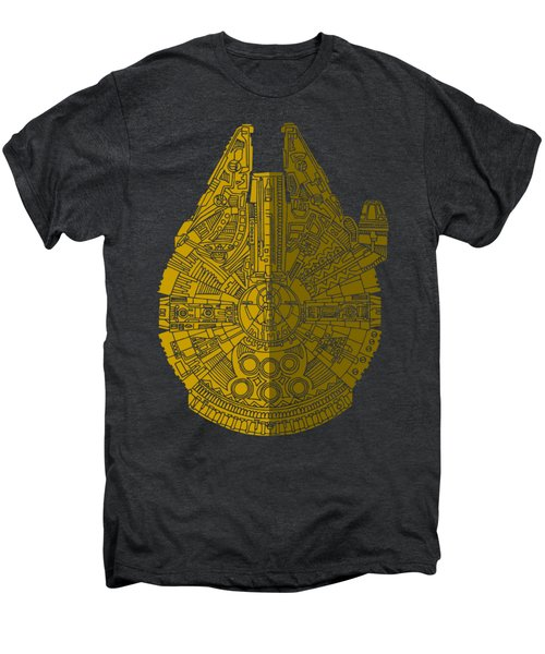 Star Wars Art - Millennium Falcon - Brown Men's Premium T-Shirt