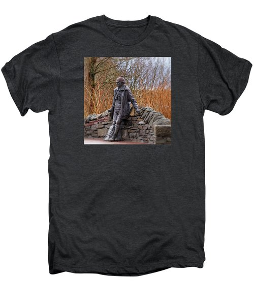Men's Premium T-Shirt featuring the photograph Statue Of Tom Weir by Jeremy Lavender Photography