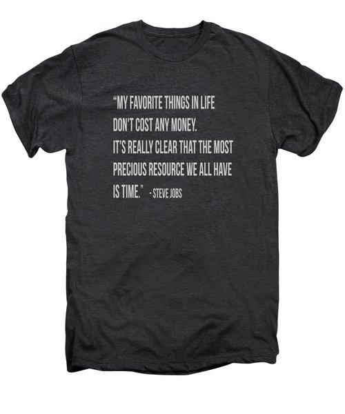 Steve Jobs Time Quote Tee Men's Premium T-Shirt