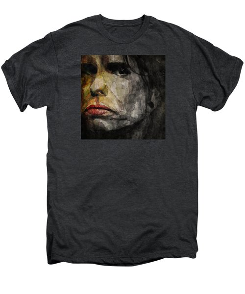 Steven Tyler  Men's Premium T-Shirt by Paul Lovering